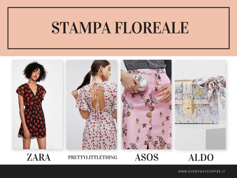 tendenza moda primavera estate 2018 stampa floreale