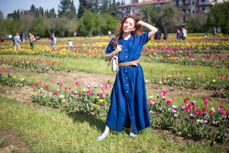 vestito blu jeans zara