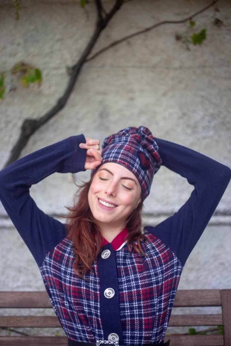 cappello tartan pepita