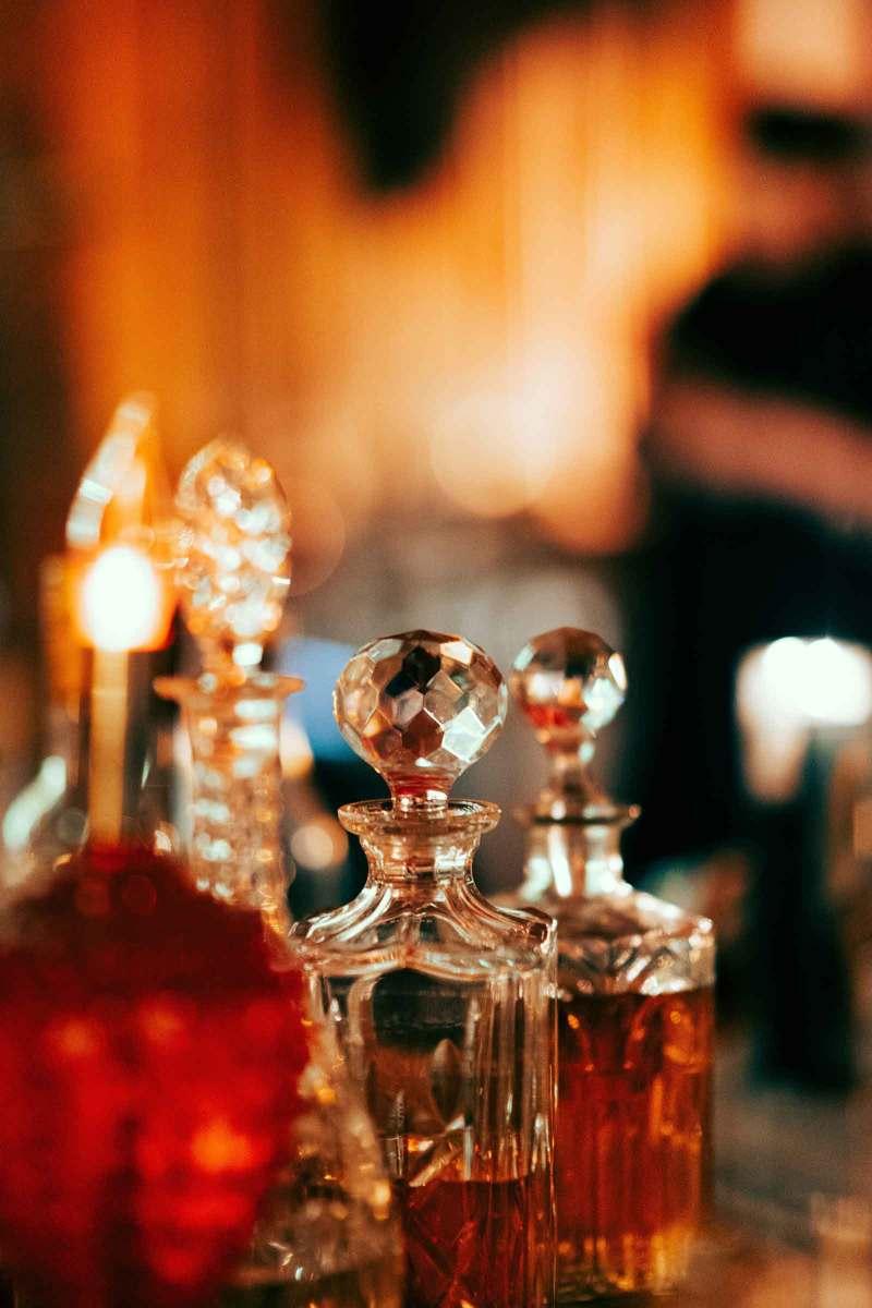 boccette di profumo vintage in vetro
