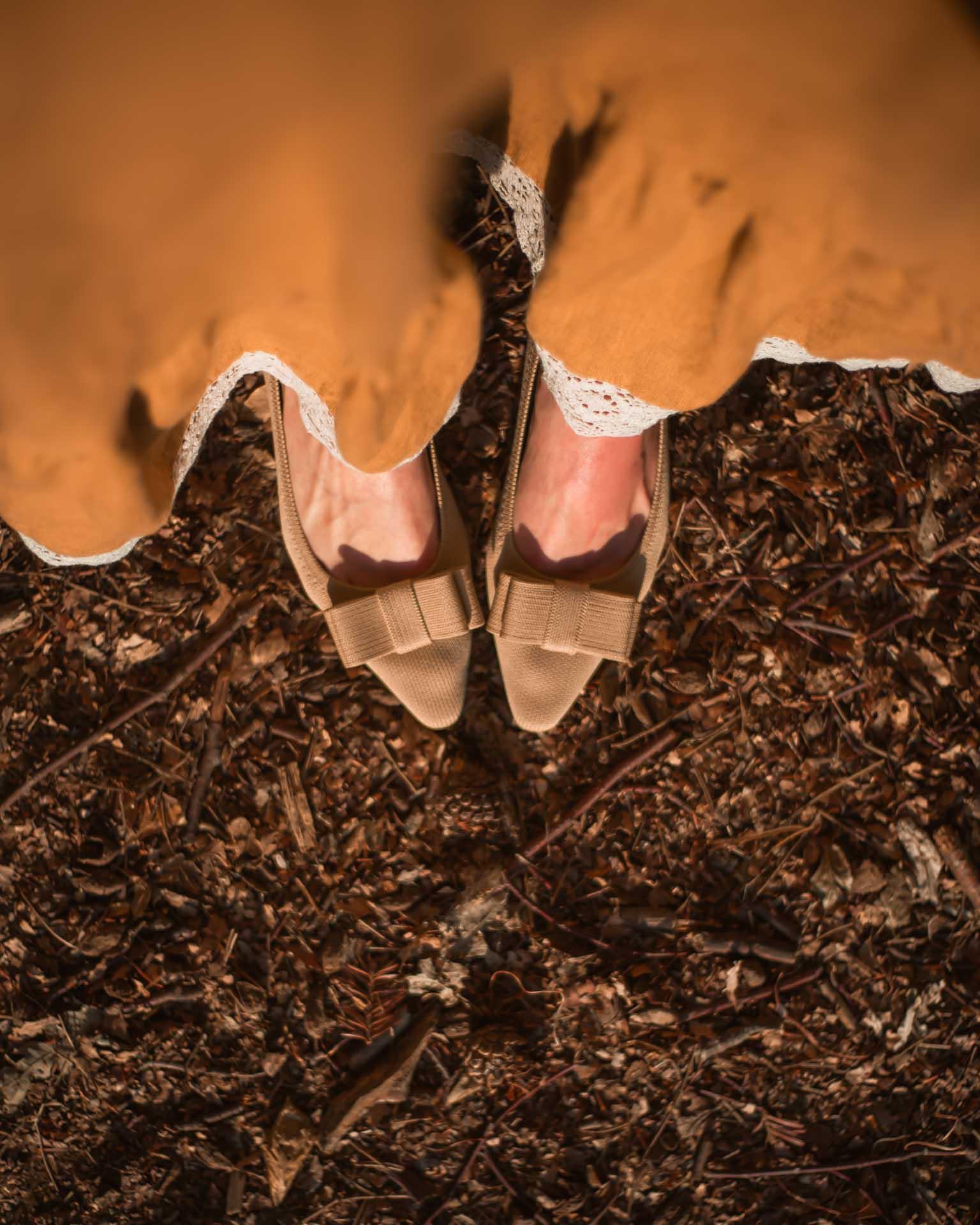 scarpe vivaia con fiocco