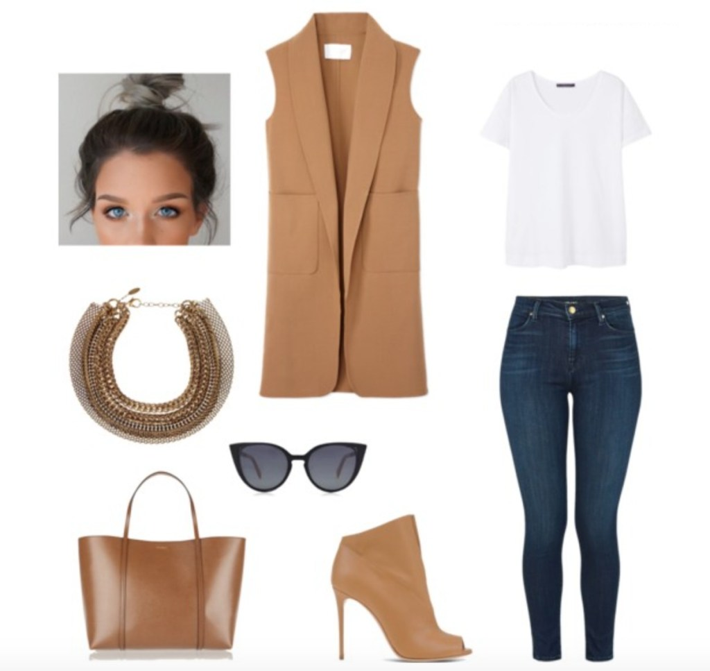 sleeveless-blazer-and-t-shirt-outfit