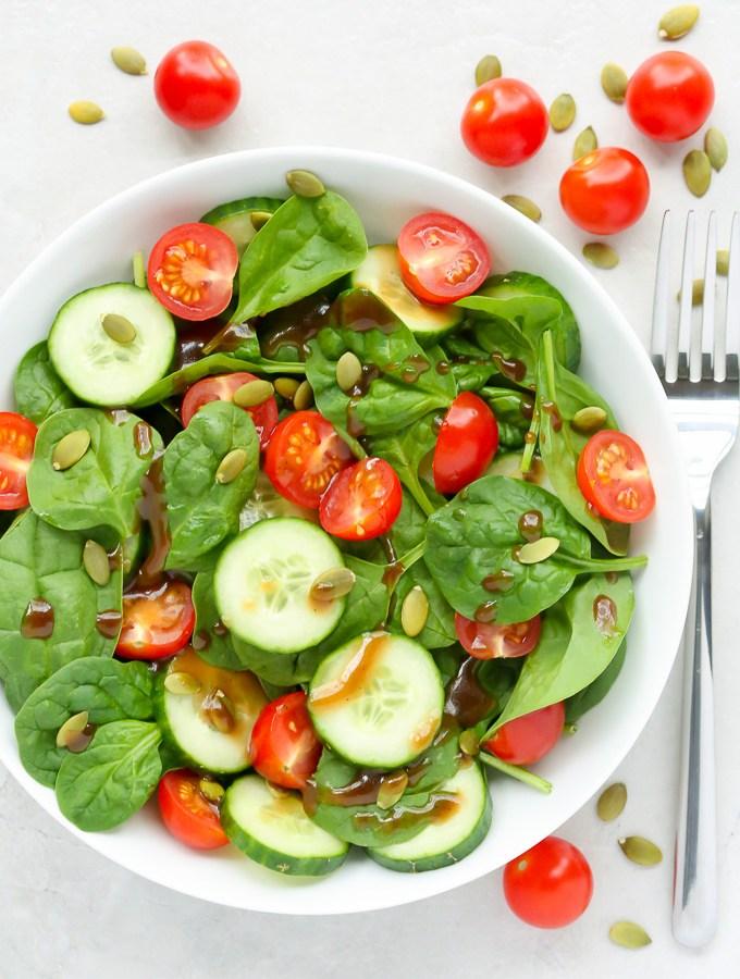 Cherry Tomato & Spinach Salad