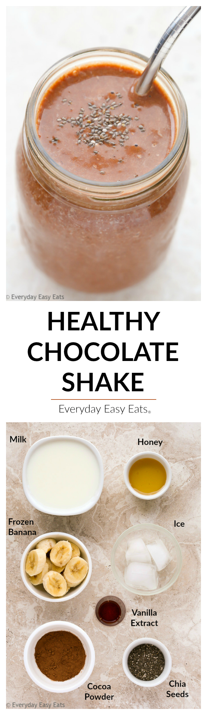 Healthy Chocolate Shake | Everyday Easy Eats