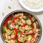 Chicken and Vegetable Stir-Fry - A 20-minute recipe made with tender pieces of chicken and fresh veggies tossed in the most delicious honey-soy stir-fry sauce. | EverydayEasyEats.com