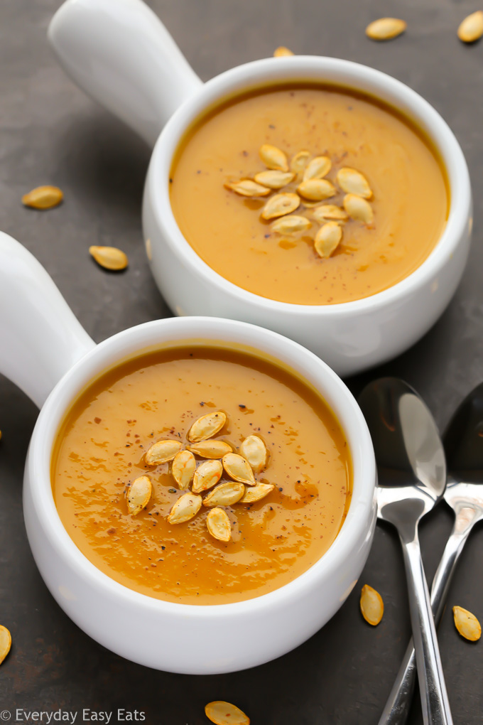 Butternut Squash Soup - Vegan, Paleo and Gluten-Free! | Recipe at EverydayEasyEats.com