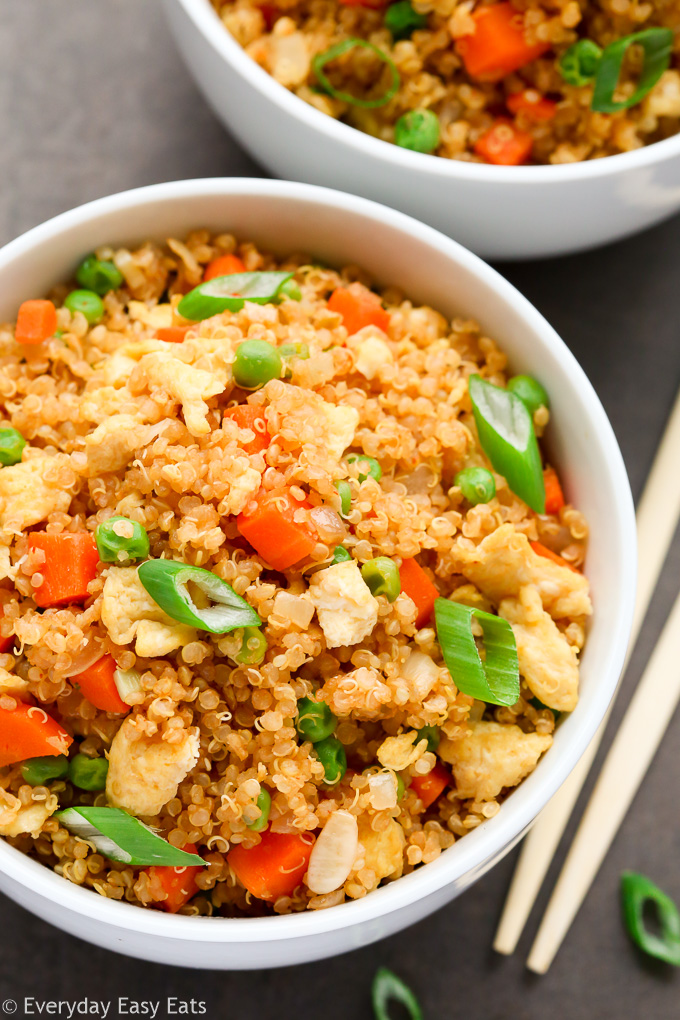 Easy Healthy Quinoa Fried Rice | Recipe at EverydayEasyEats.com