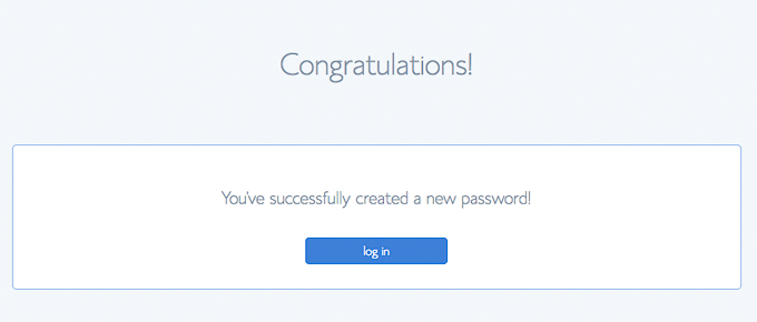 Bluehost New Password Created Log in