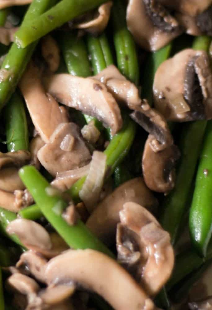 Green Beans with Mushrooms and Shallots - Everyday Eileen