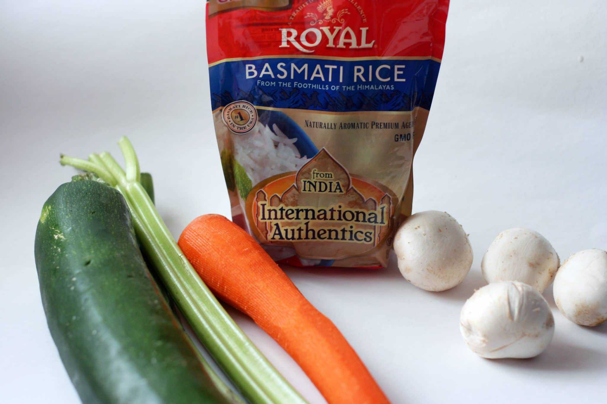 Coconut curry rice vegetables and rice