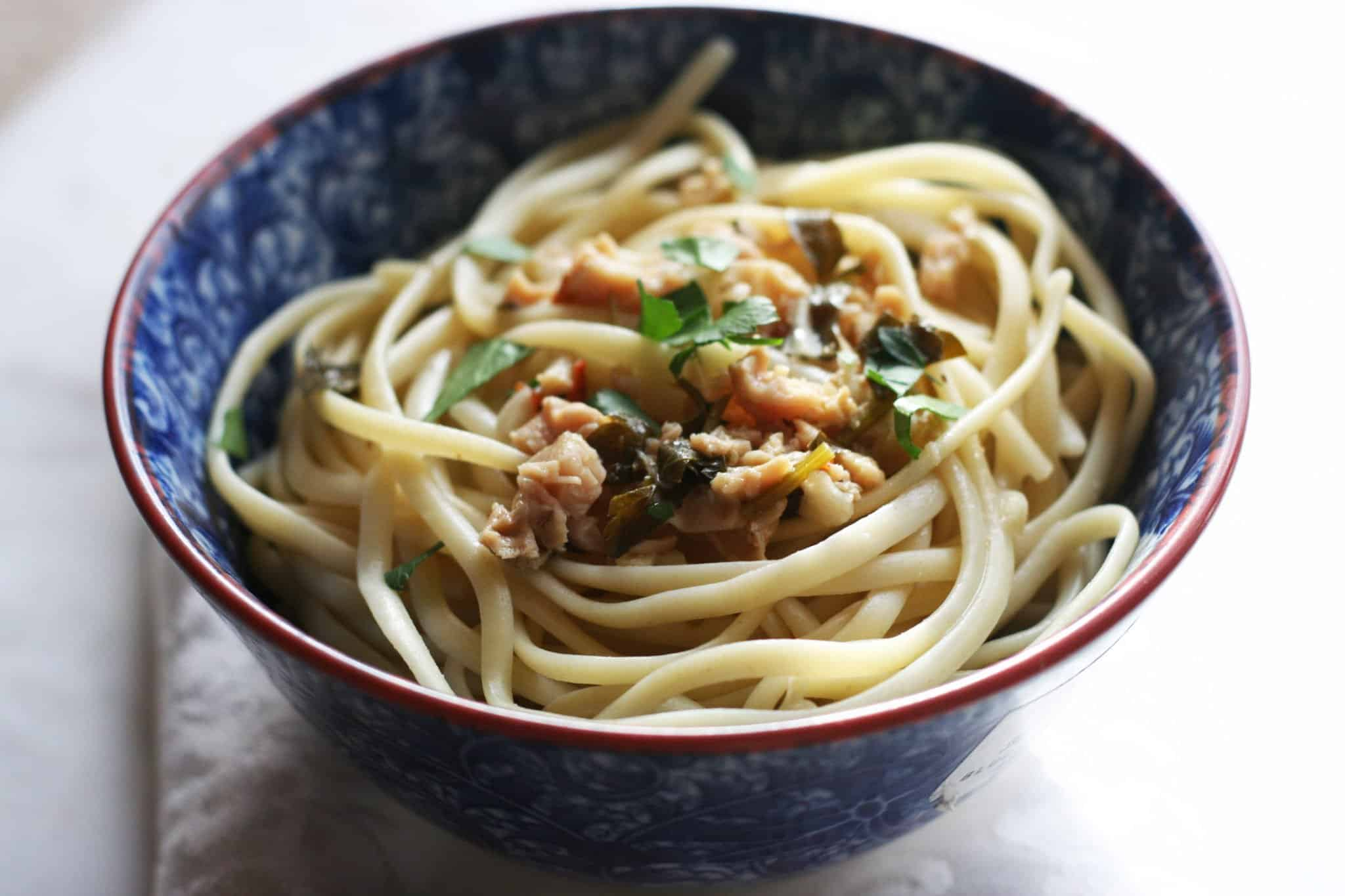how to make linguine with red clam sauce