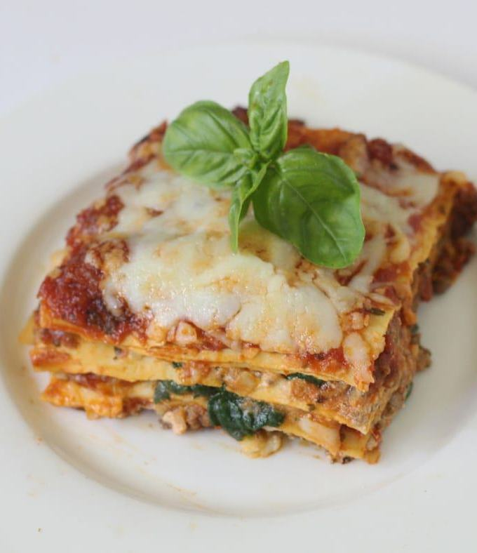 One Skillet Low-Fat Lasagne