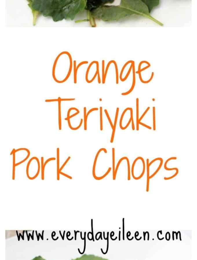 Grilled Orange Teriyaki Pork Chops