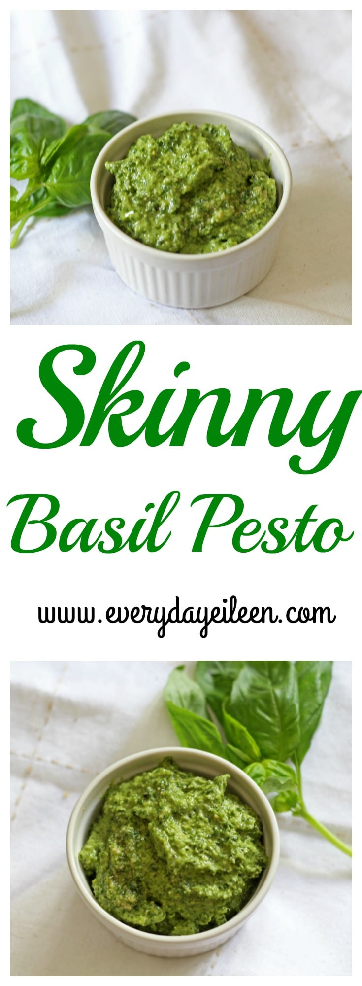 Skinny Basil Pesto - Everyday Eileen