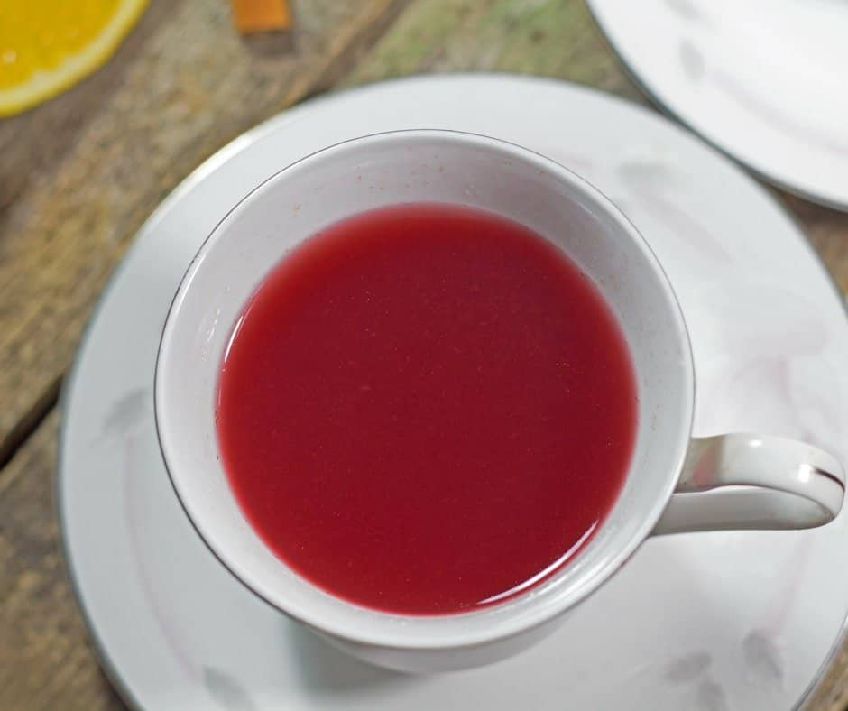 cleansing cranberry tea