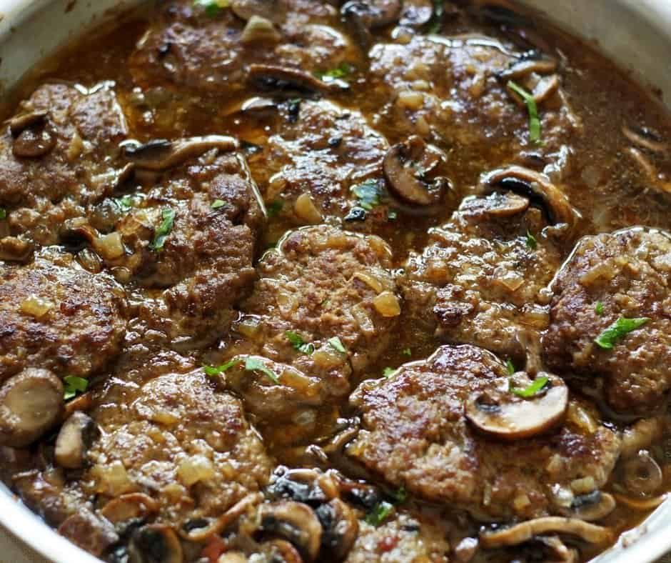 homemade lighter salisbury steaks