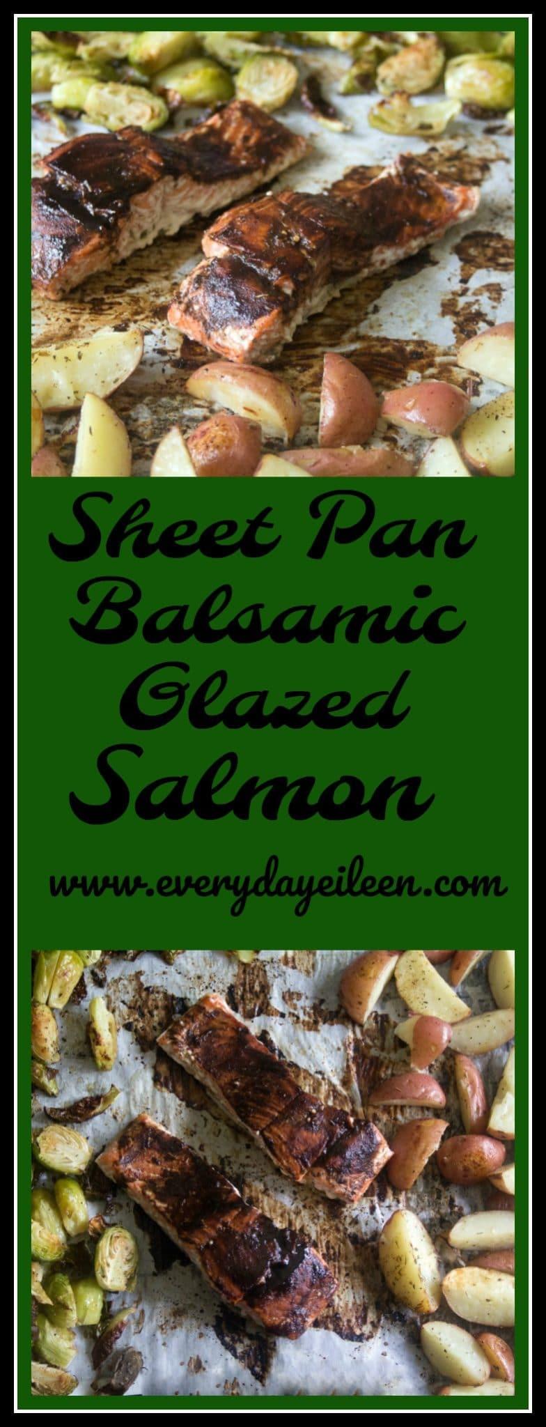 sheet pan balsamic glazed salmon