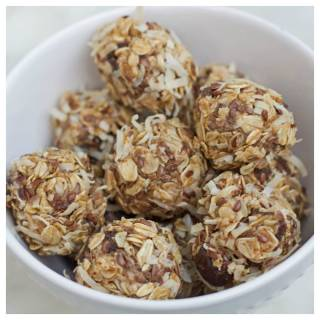 no bake coconut date energy bites