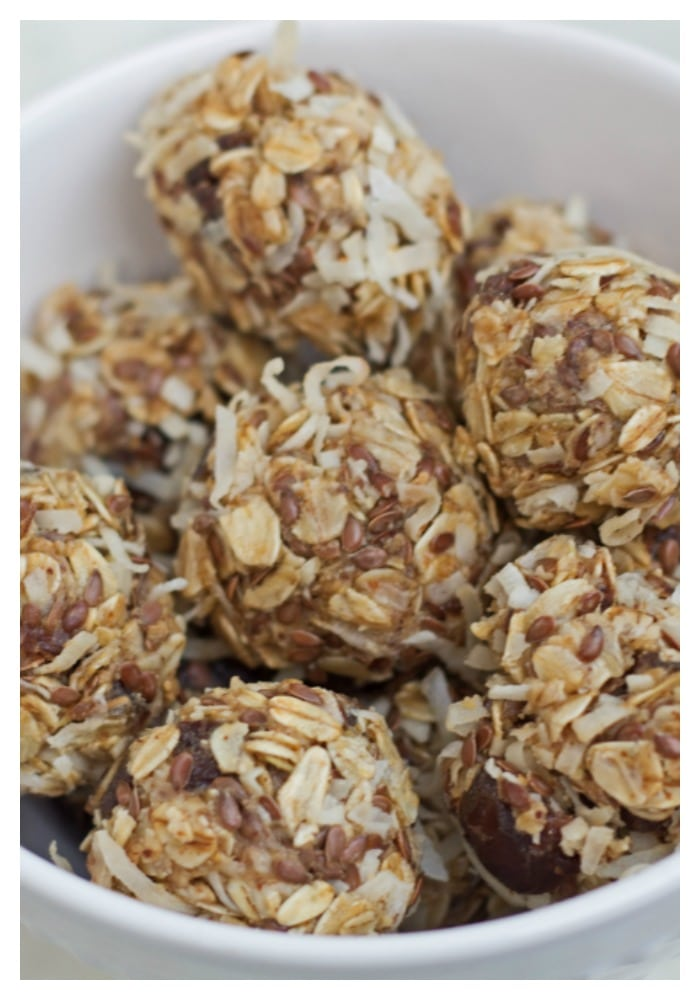 no-bake coconut energy date bites