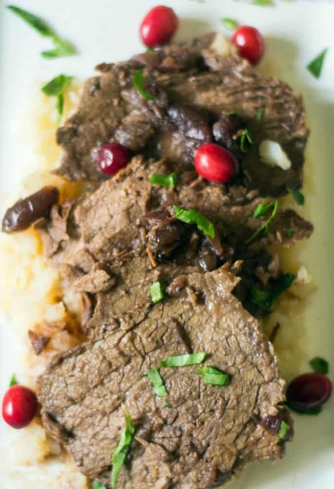 slow cooker cranberry pot roast