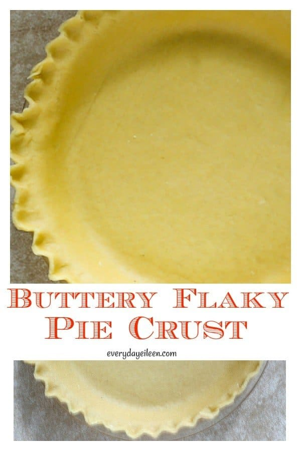 How to make a homemade flaky pie crust from scratch is easier than you think. Use this detailed tutorial to get the easy instructions to make a buttery flaky pie crust. You won't want a store made crust again. #flakypiecrust #butteryflakypiecrust #homemadepiecrust #everydayeileen #holidaybaking #piecrust