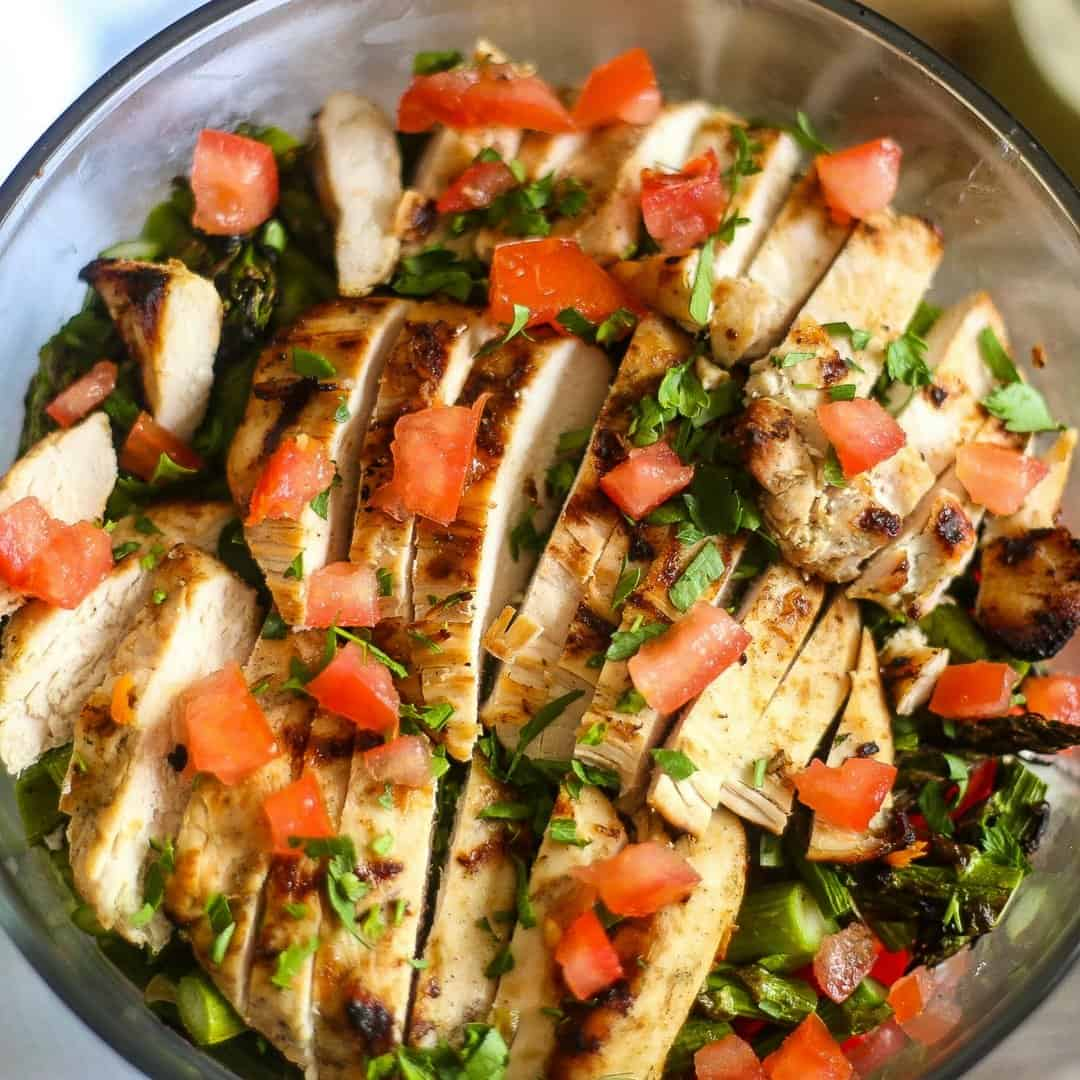 Grilled Chicken Asparagus Salad
