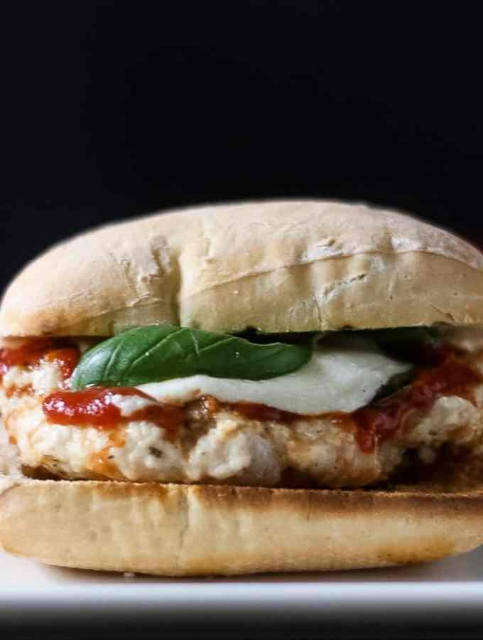 Best Grilled Chicken Parm Burger