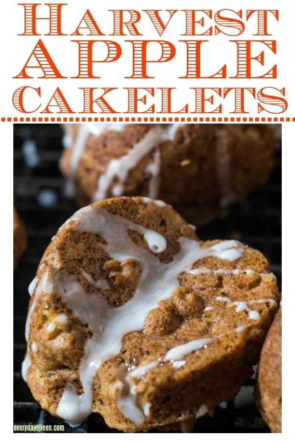Harvest Apple Cakelets with Maple Drizzle