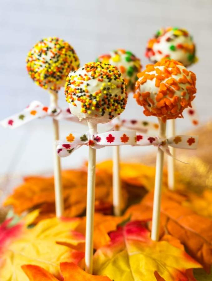 Autumn Sprinkle Cake Pops