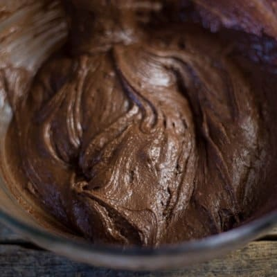 chocolate crinkle cookie recipe batter ready to be refrigerated
