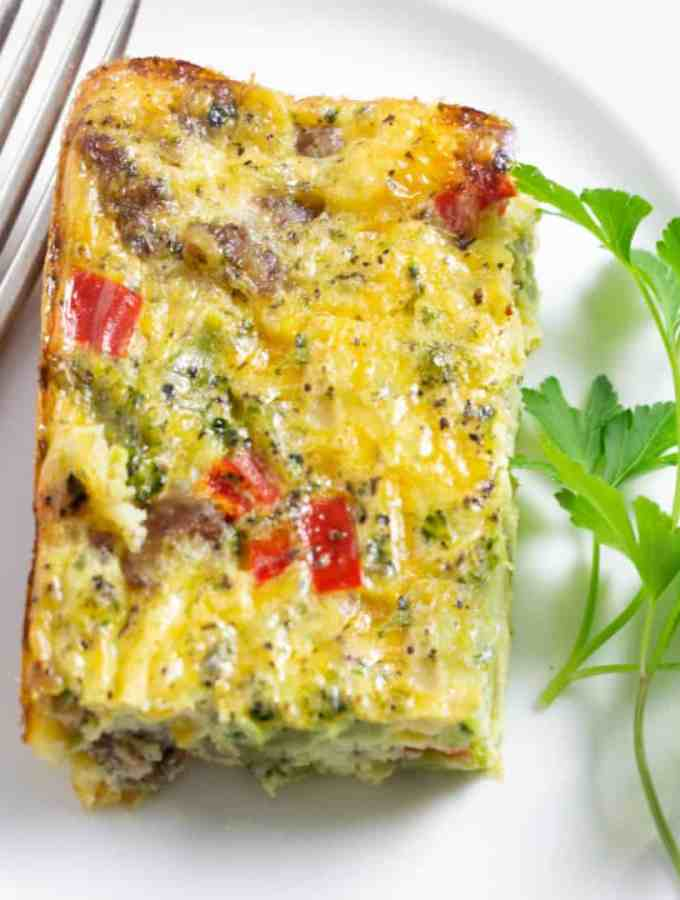Easy Cheesy Sausage and Egg Casserole