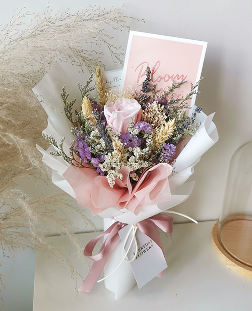 Mother's Day Lilac Preserved Flower Bouquet (永生花束)