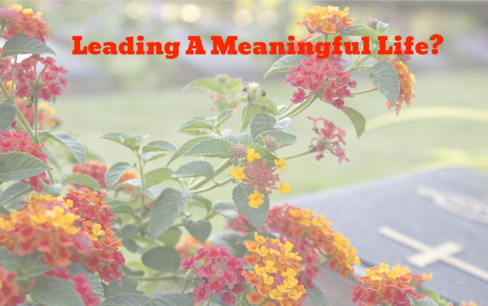 Leading A Meaningful Life #MondayMusings