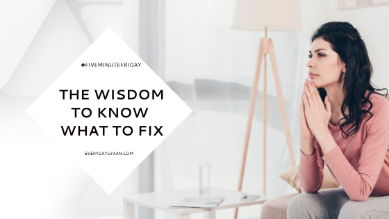 the wisdom to know what to fix