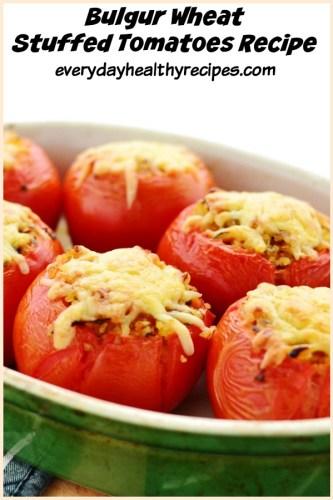 Bulgur Wheat Stuffed Tomatoes Recipe