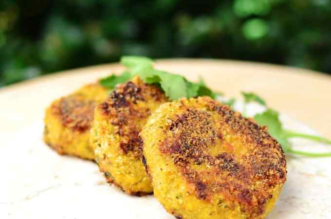 Cauliflower Rice Cheese Patties