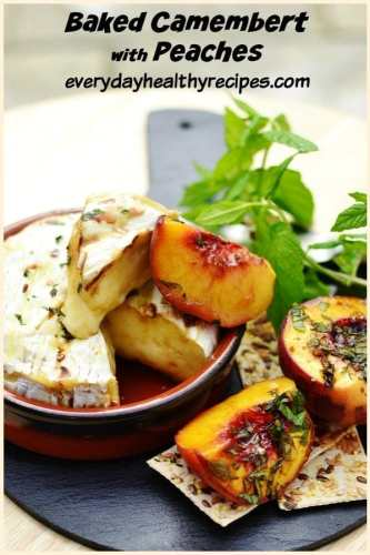 Baked Camembert Recipe with Peaches