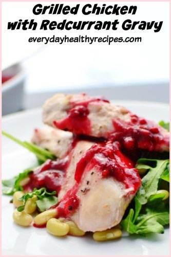 Grilled Chicken with Redcurrant Gravy