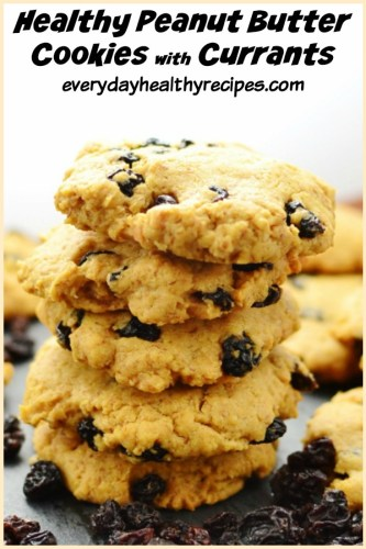 Easy Low Carb Peanut Butter Cookies with Currants