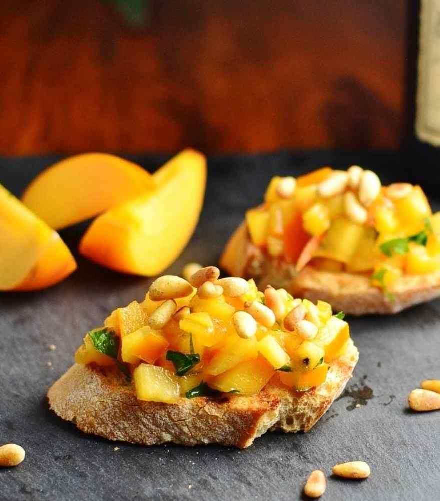 Easy Bruschetta Recipe with Persimmon