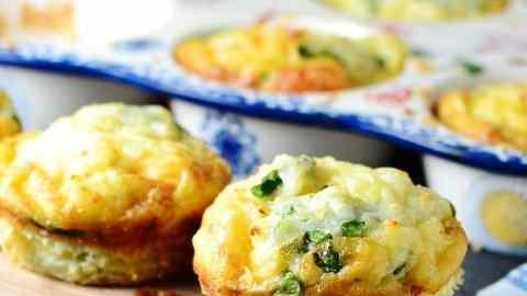 Asparagus Halloumi Potato Muffin Tin Frittatas