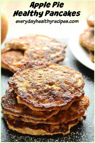 Healthy Apple Cinnamon Pancakes From Scratch
