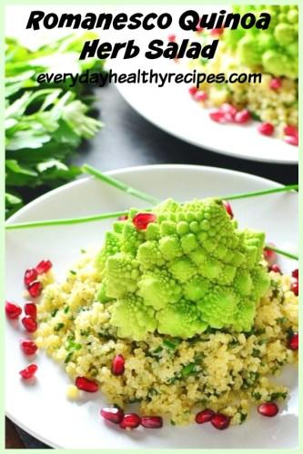 Romanesco Quinoa Herb Salad