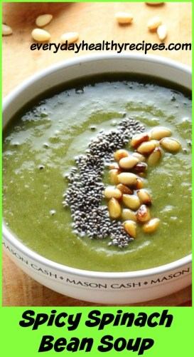 Spicy Spinach Bean Soup