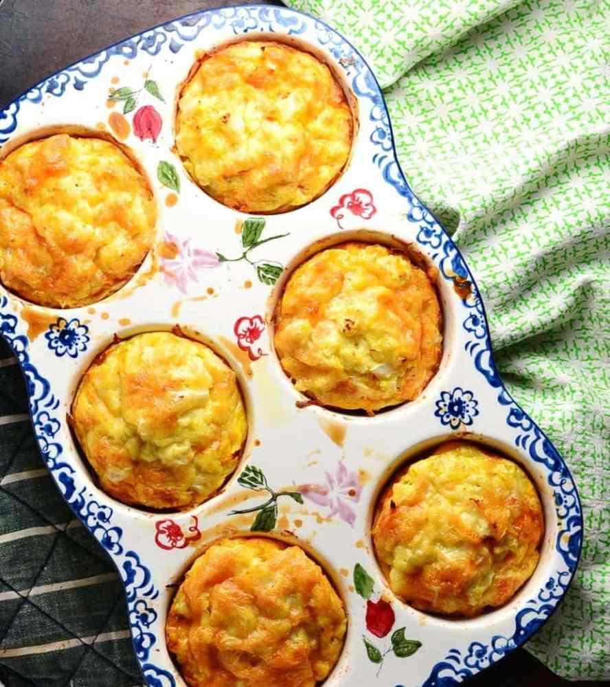 Sweet Potato Frittata Muffins with Cauliflower