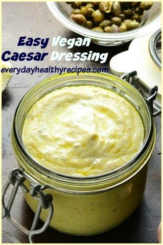 Vegan Caesar Dressing is made using silken tofu, which produces a gorgeously creamy, rich consistency without too many calories or too much effort.