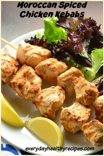 Moroccan Spiced Chicken Kebabs