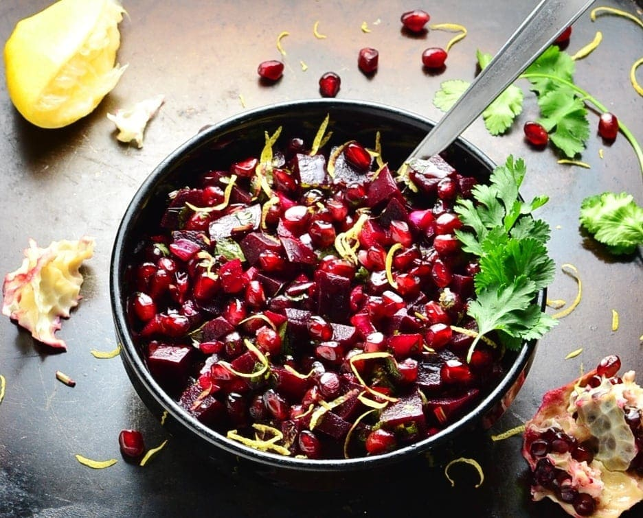 Pomegranate Beetroot Salad Recipe with Cilantro