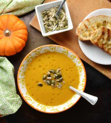 Creamy Spiced Roasted Butternut Squash Soup Recipe