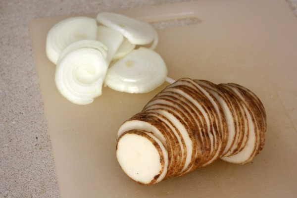 Potatoes and Onion